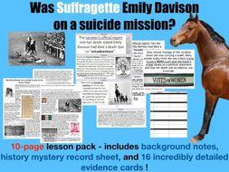 Suffragette Emily Davison - 10 page lesson pack