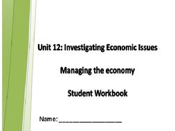 AQA GCSE Economics Unit 12 Managing the Economy Homework Booklet