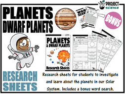 Planets and Dwarf Planets Research Sheets