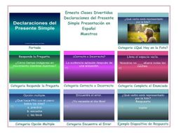 present simple tense spanish powerpoint presentations by eslfungames
