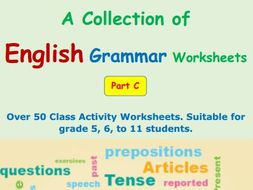 English Grammar Worksheets Part C