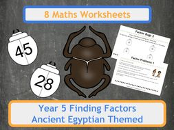 Factor Scarab Beetles (Factor Bugs) for Year 5 Classes