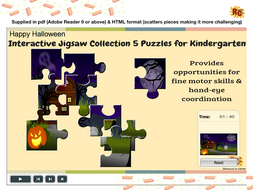 Halloween Themed Interactive Jigsaws Ks1 Collection By
