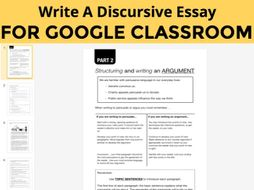 Write A Balanced Argument Unit to use with GOOGLE CLASSROOM (9-14 years)