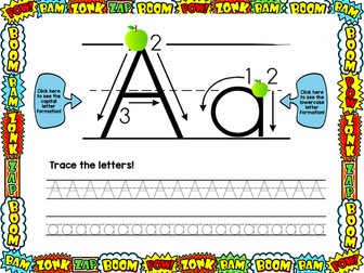 Superhero Handwriting Letter Formation Powerpoint