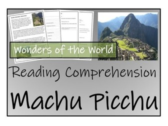 UKS2 History - Machu Picchu Reading Comprehension Activity