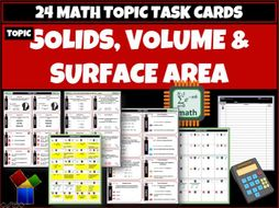 Solids Volume Surface Area Task Cards