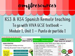 KS3 & KS4 Spanish (remote learning) - Viva texbook (green) Module 1 - Unit 1 - Punto de partida 1