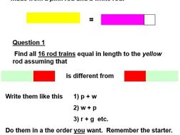Cuisenaire rods introduction activity