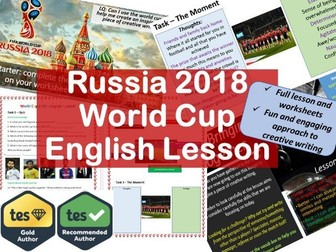 World Cup Russia 2018 English Creative Writing Lesson