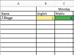 Home learning work  class tracker