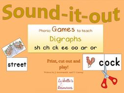 Phonic Digraph Games: sh ch ck ee oo ar or