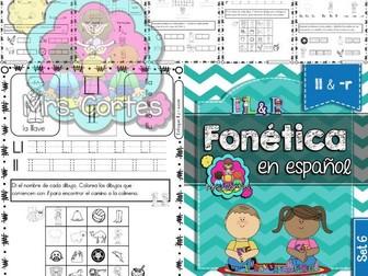 Spanish Phonics Book Set #6: Letras ll & -r