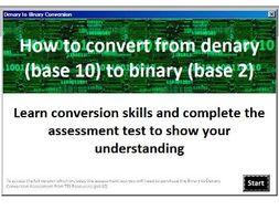 Denary to Binary Conversion