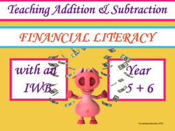 Financial Literacy - working with Addition and Subtraction