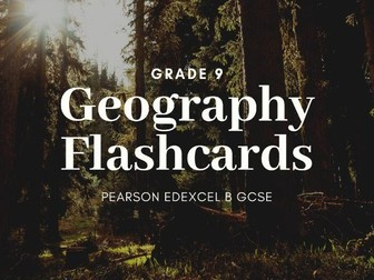 GEOGRAPHY FLASHCARDS DIFF PAPERS EDEXCEL B GCSE