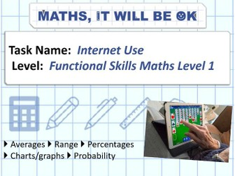 FS Maths Level 1- Statistics - Internet Use - Exam Style