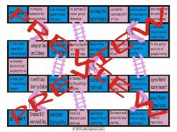 Word Order Chutes and Ladders Board Game