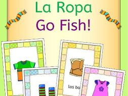 Spanish clothing - la ropa - Go Fish! game