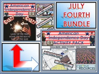 American Independence Day Fourth of July  (July 4th) BUNDLE!