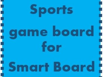 Sports Game board for Smartboard