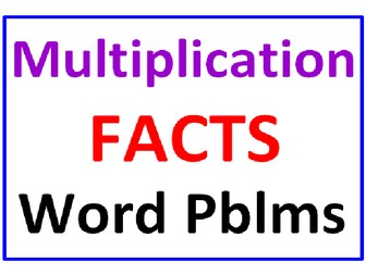 Multiplication Facts Word Problems