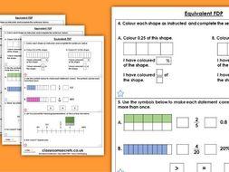 Year 5 Equivalent FDP Spring Block 3 Maths Homework Extension