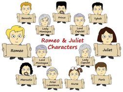 Romeo and Juliet Characters - Cartoon Format - High Resolution Display