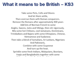 What it means to be British Assessment