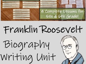 UKS2 History - Franklin D. Roosevelt Biography Writing Unit