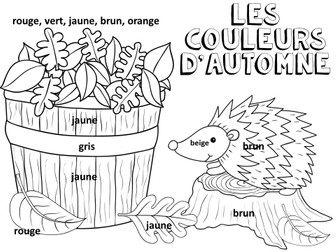 French Colouring Sheets x 6 Halloween and Autumn