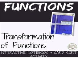 Functions: Function Transformations Notes and Card Sort