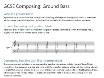 GCSE Music Composing - Ground Bass