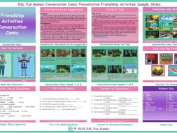 Friendship Activities Conversation Comic Presentation