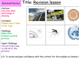 Climate Change Revision Lesson and Resources