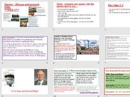AQA A-LEVEL Changing Places - Concepts of place (Lesson + Resources)