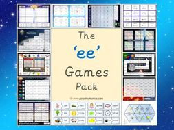 The 'ee' Phonics Games Pack (Phase 3)