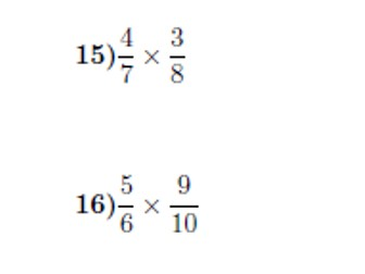 Multiplying fractions worksheet no 3 (with solutions)
