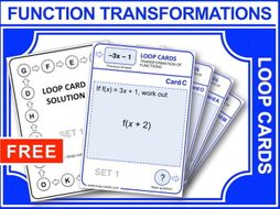 Transformation of Functions (Loop Cards)