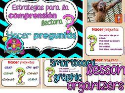 Reading Comprehension Strategies- Hacer preguntas for SMARTBOARD