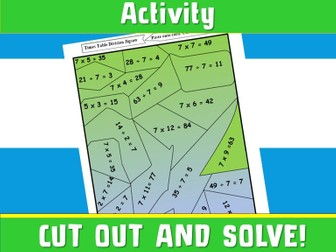 FREE Times Table Jisgaw Multiplication Jigsaw Game  7 times Table NinaLaZna