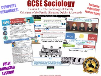 Zaretsky, Delphy and Leonard - Criticisms of the Family (II)- L11/20 [ AQA GCSE Sociology - 8192]