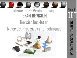 Edexcel GCSE Product Design Revision booklets for TIMBERS and P&Bs