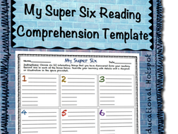My super six reading comprehension note taking template by my super six reading comprehension note taking template maxwellsz
