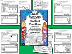 Math Flip Flap Booklet for Decimal Fractions