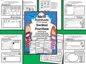 Math Flip Flap Booklet for Decimal Fractions
