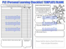personal learning checklist plc feedback worksheet target setting exam prep revision afl. Black Bedroom Furniture Sets. Home Design Ideas