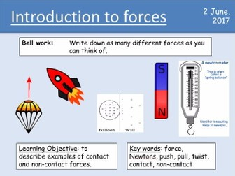 Year 7 Forces lesson 1 - Introduction to forces