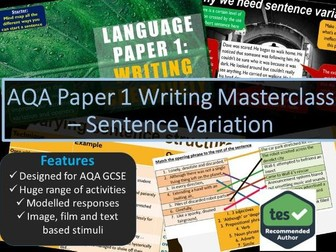 Creative Writing Masterclass - Sentence Variation