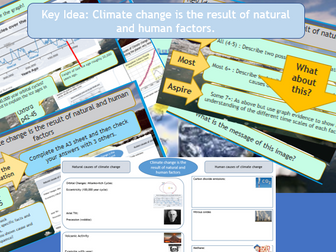 GCSE AQA 9-1: Climate Change - The human and physical causes of climate change.